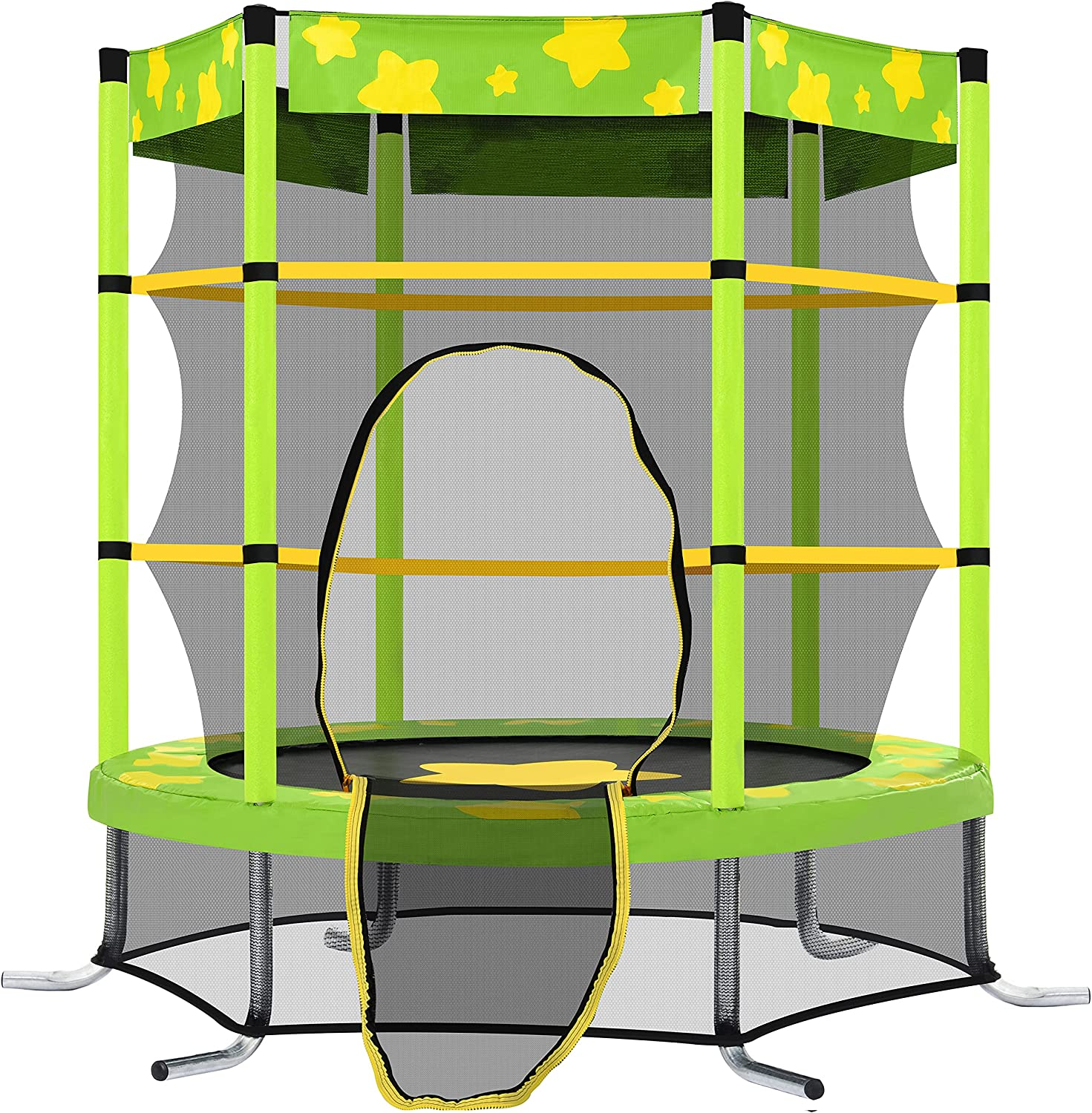 55 Inch Direct stock discount Kids Trampoline with Indoo Safety Very popular! Net Outdoor Enclosure