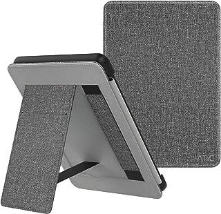 ATiC NEW-Kindle Paperwhite ケース Newモデル Kindle Paperwhite 2018 10代に適応 スタンド付き オートスリープ機能 ハンドストラップ付き 保護カバー MAT GRAY