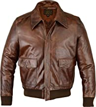 FiveStar Leathers Men's Air Force A-2 Leather Flight Bomber Jacket