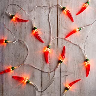 Lights4fun, Inc. 20 Red Chili Pepper Battery Operated LED Indoor & Outdoor String Lights