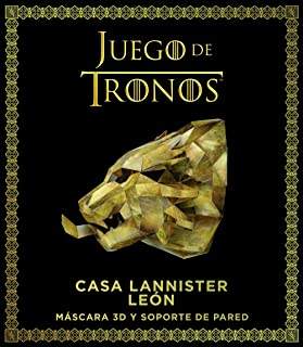 Juego de Tronos. Casa Lannister: león: Máscara 3D y soporte de pared (Series y Películas)