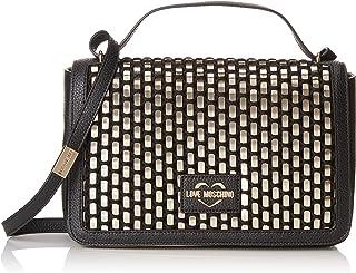 Love Moschino Borsa Intreccio Pu, Women's Top-Handle Bag, Black (Nero), 6x18x28 cm (W x H L)