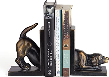 Danya B. DS782 Unique Decorative Animal Shelf Décor - Labrador Dog Bookend Set
