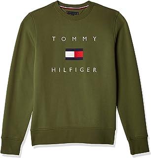 Tommy Hilfiger Felpa con Bandiera Tommy (Verde, M)