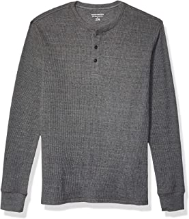 Men's Slim-fit Long-Sleeve Waffle Henley