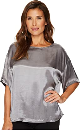 Casual Satin Relaxed Tee