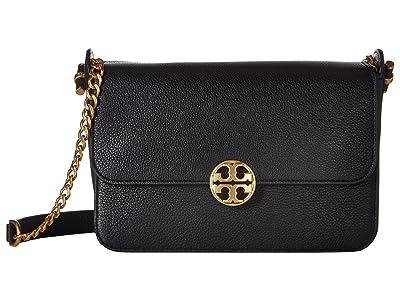 Tory Burch Chelsea Crossbody (Black) Cross Body Handbags