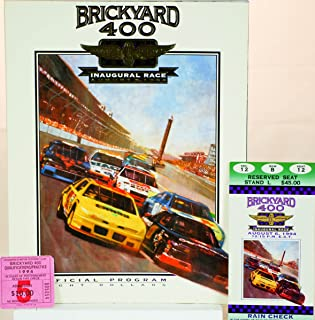 1994 - Indianapolis Motor Speedway - Brickyard 400 - Inaugural Race / August 6, 1994 - Official Program - w/ Ticket Stub / Qualification Ticket Stub / Official Starting Lineup / 2 - Official Handbooks Inaugural Collector Edition - IMS Merchandise Catalog - Very Rare - Like New - Out of Print - Collectible