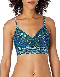 Coastal Blue Womens Banded Wrapped Font Bikini Top