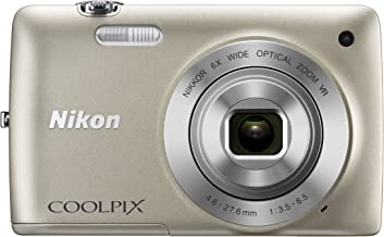 Nikon COOLPIX S4300 16 MP Digital Camera with 6x Zoom NIKKOR Glass Lens and 3-inch Touchscreen LCD (Silver)