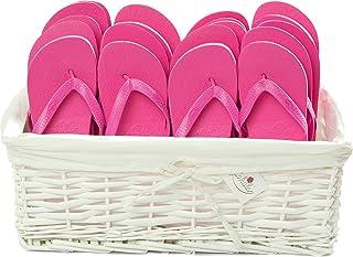 Zohula Flip Flops Wedding Baskets - 20 Pairs [Lx20] - Choice of Colours (Pink)