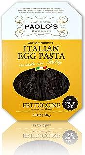 PAOLO Squid Ink Fettucine Pasta, 250 Gram