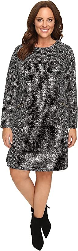 Plus Size Norfolk Long Sleeve Flare Dress