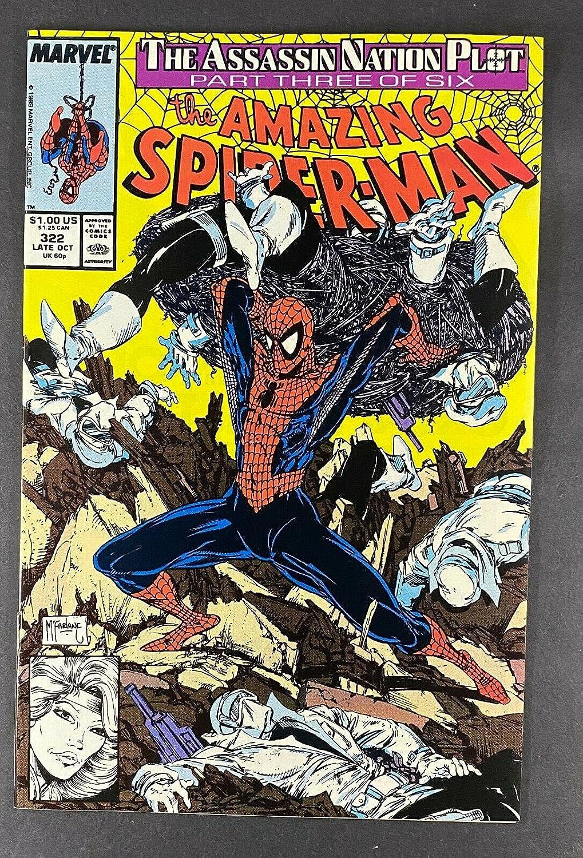 Amazing Spider-Man trust 1963 #322 NM 9.4 Silver Sable Mc Todd Dallas Mall App