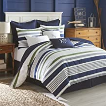 Southern Tide Home Sullivan Comforter Set, Full, Navy