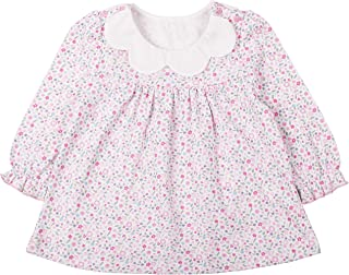 COTTON FAIRY Baby Girl Long Sleeve Birthday Floral Prints Dress (6-9M,Floral)