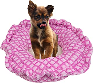product image for Bessie and Barnie Ultra Plush Pink It Fence/ Natural Beauty Deluxe Luxury Dog/Pet Lily Pod Bed Machine Washable
