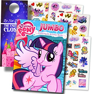 My Little Pony Rarity Colouring Book and Stickers Super Set Bundle My Little Pony Colouring Book with My Little Pony Stick...