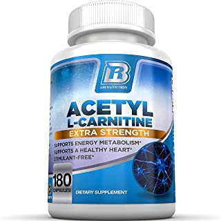 BRI Nutrition Acetyl L-Carnitine - Natural Supplement to Help Boost Energy Production, Support Memory/Focus, Promote Posit...