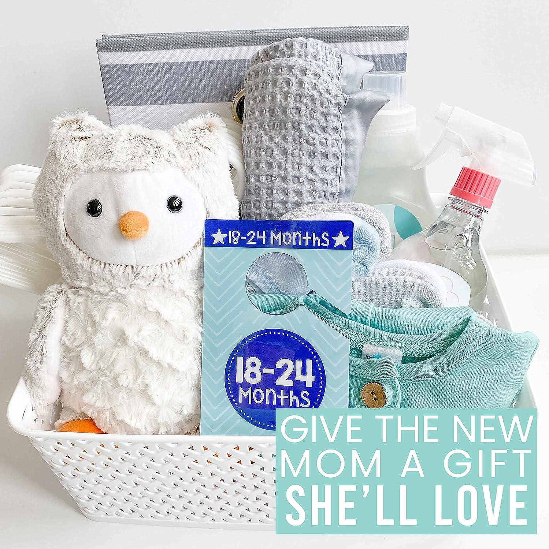 6 Baby Closet Size Dividers Boy - Blue Baby Closet Dividers By Month, Baby Closet Organizer For Nursery Organization, Baby Essentials For Newborn Essentials Baby Boy, Nursery Closet Dividers Boy