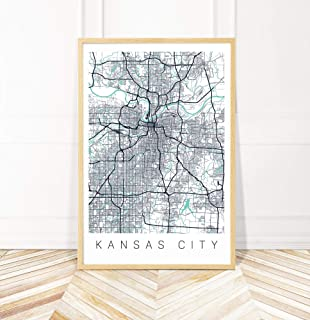 kansas city map print