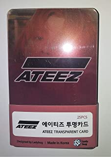 ATEEZ K-POP Photo Cards Set (Transparent 2019/08)