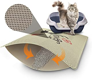 DYD Cat Litter Mat Litter Trapping Double Layer Design Waterproof Urine Proof Mat Traps Debris for Litter Boxes Soft Comfortable Surface for Cats to Walk On Easy Cleaning