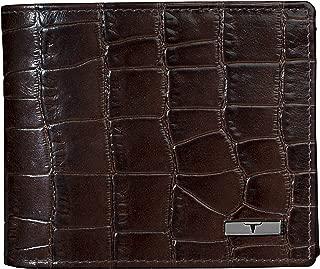 Urban Forest Drogon Brown Croco Print RFID Blocking Leather Wallet for Men
