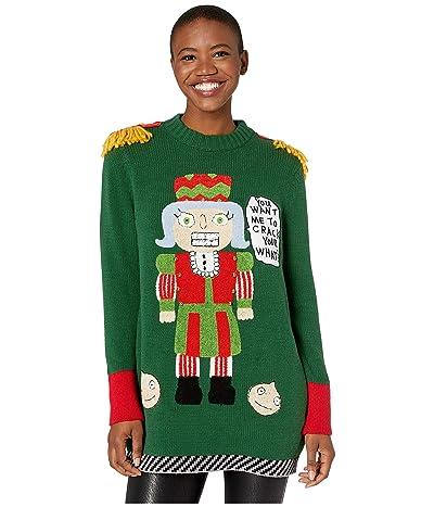 Whoopi Mrs. Nutcracker Sweater (Dark Green) Women