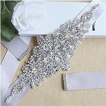 Handmade Rhinestone sash Crystal Wedding Bridesmaid Beaded Belts for Women