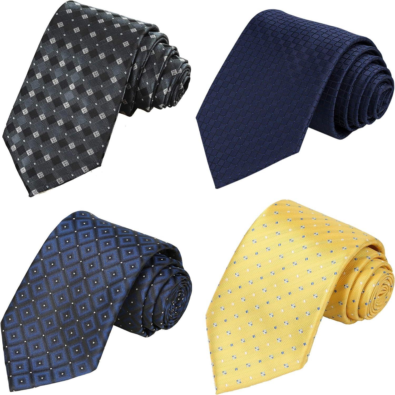 KissTies 4PCS Ties For Men Gift Set Mens Neckties + 1 Magnetic Box