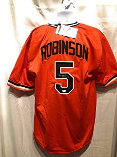 326b279c Brooks Robinson Baltimore Orioles Signed Autograph Orange Custom Jersey JSA  Witnessed Certified