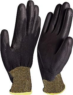 36 pares de guantes de trabajo de nailon negro con