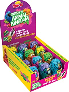 Yowie Surprise Inside Chocolate Eggs | Colors of the Animal Kingdom Series 6 | Box of 12 Eggs w/ Collectible Animal Toys |...