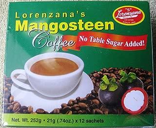 Mangosteen Healthy Coffee (No Sugar Added) by Lorenzana 21g x 12 sachets