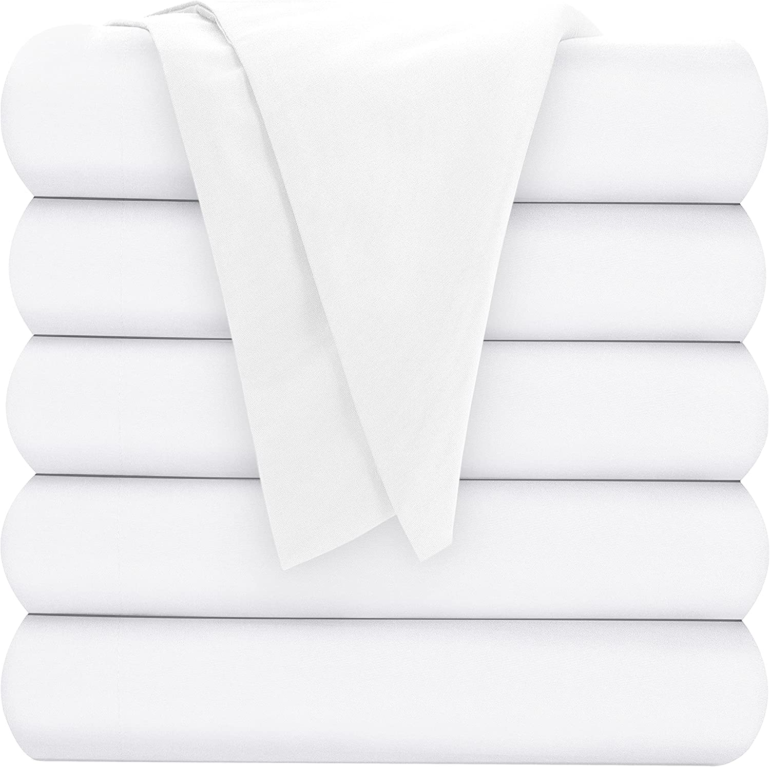 Oakias Queen Flat Sheets White – Jacksonville Mall for Pack of Bed 6 Top Our shop most popular