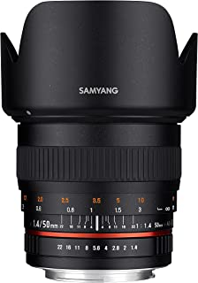 Samyang SY50M-P قياسي ثابت برايم 50 مم F1.4 لكاميرات بينتاكس دي اس ال ار