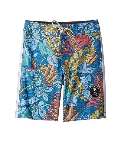VISSLA Kids Kookabura Boardshorts (Big Kids) (Ocean Blue) Boy