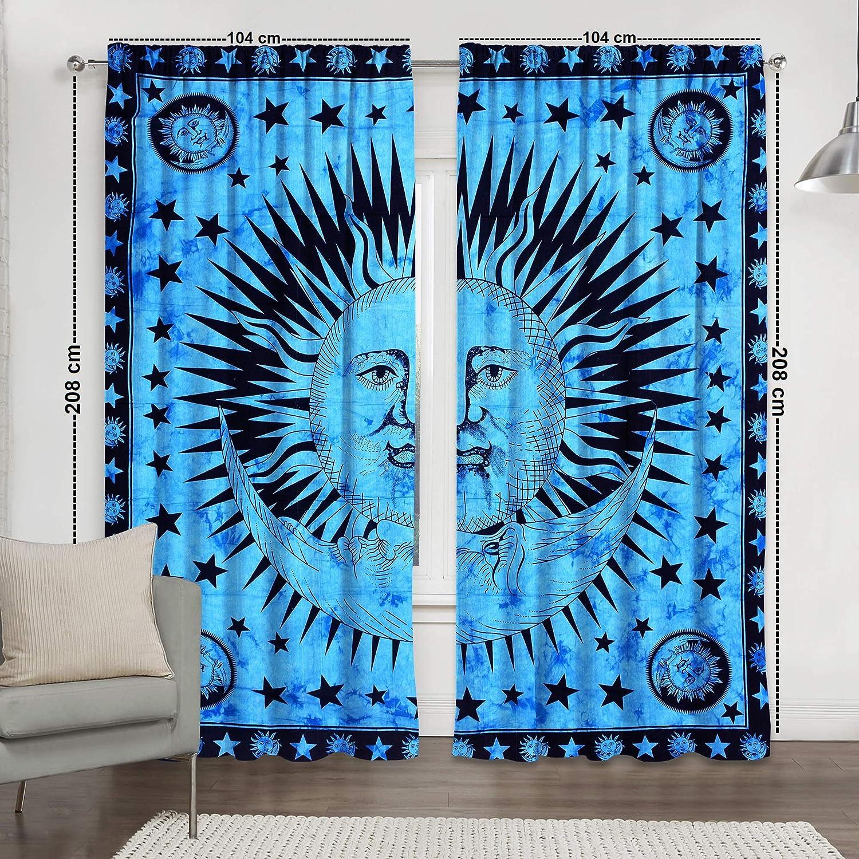 Star tie dye Sun moon Curtains /& Window Treatments Indian Boho Mandala Drape Balcony Room Decor Urban Burning Sun Tapestry Drapes Valances