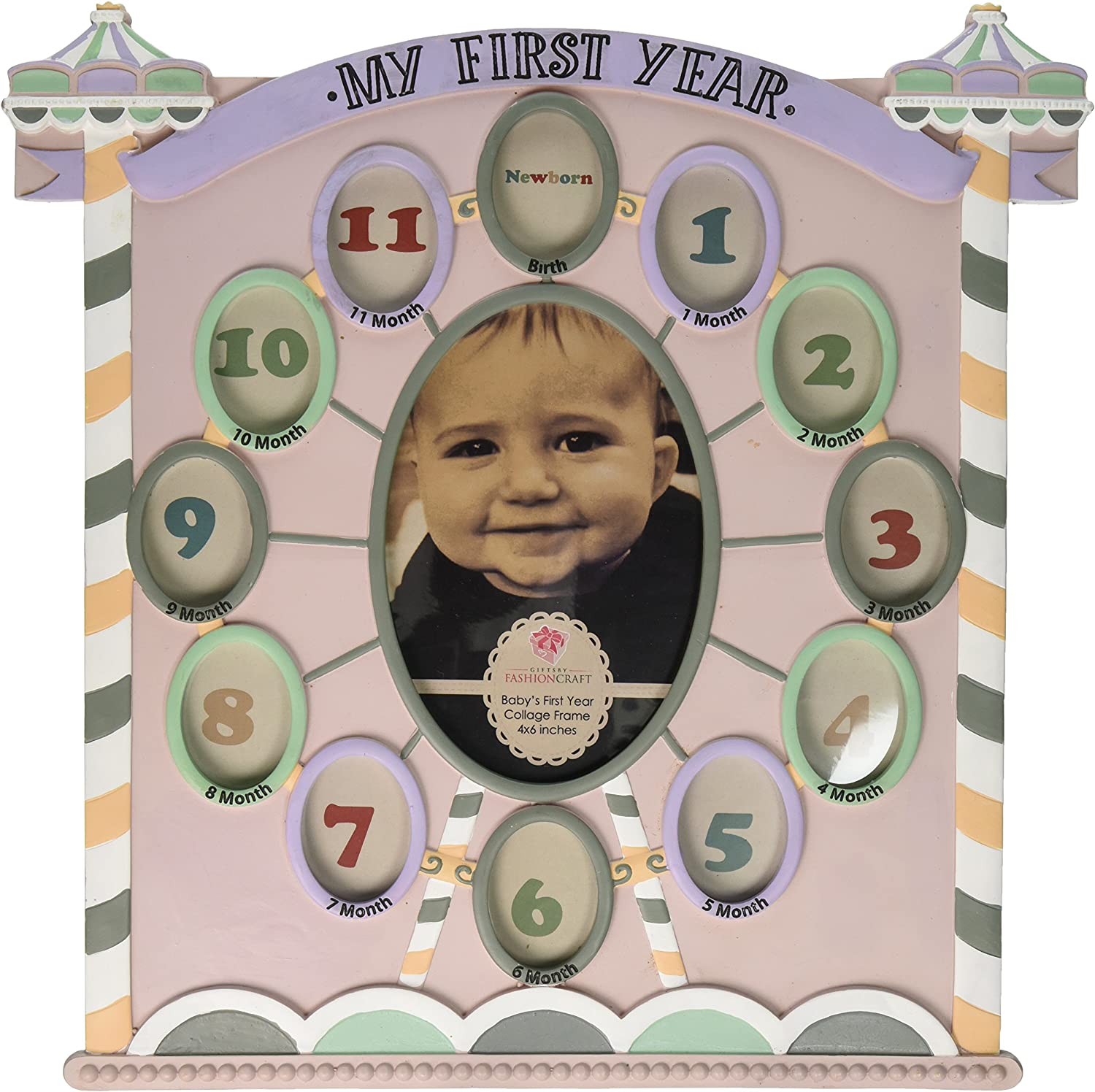 Fashioncraft My First Year Collage Circus Tent Baby Frame
