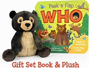 Who Peek-a-Flap Gift Set: Includes Lift-A-Flap Board Book and Cuddly Plush Toy Friend for Birthdays, Baby Showers, Christm...
