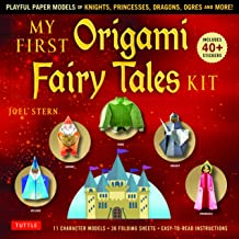 My First Origami Fairy Tales Kit: Paper Models of Knights, Princesses, Dragons, Ogres and More! (includes Folding Sheets, Easy-to-Read Instructions, Story Backdrops, 85 stickers)