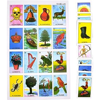 Jumbo Mexican Loteria - Mexican Bingo, Jumbo Size - 10 Players, 54 Cards
