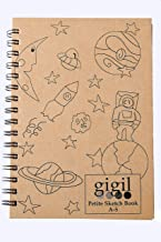 Standard GIGIL Petite Sketch Book Wiro Bound A5, 80 Pages (Brown) - Pack of 1