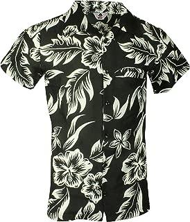 Kids Size Cherry-on-Top Flower and Leaf Hawaiian Shirt Khaki