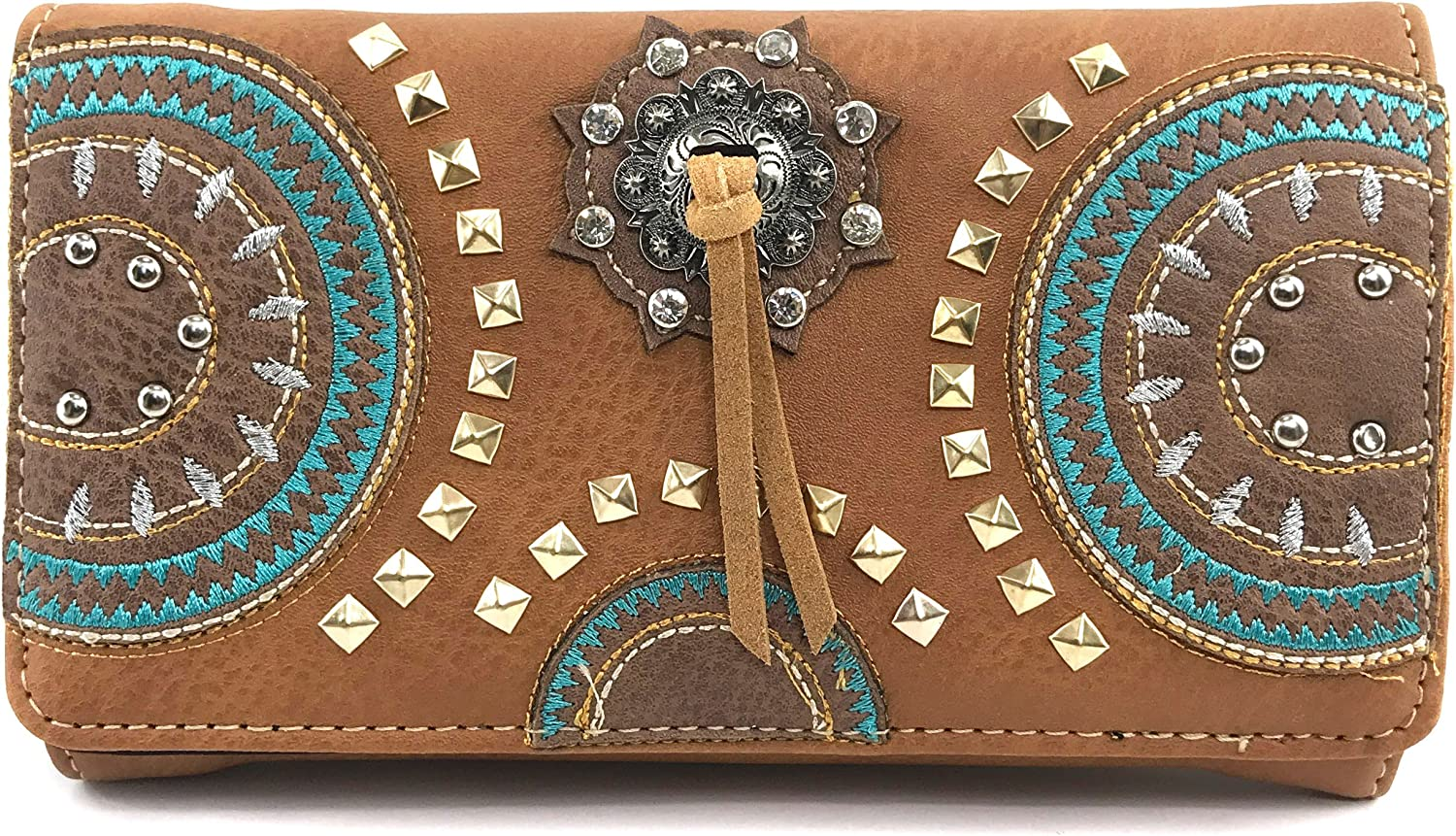 Super sale Justin West Native Max 54% OFF American Circle Embroider Gold Mountain Studs
