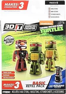 3D Character Creator Teenage Mutant Ninja Turtles Basic Refill Pack Style 2 Novelty Toy