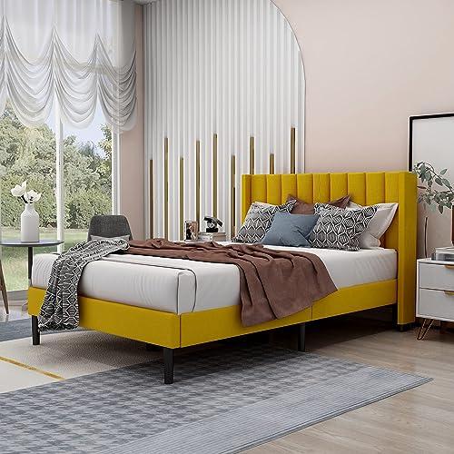 Zoophyter Upholstered Full Size Platform Bed Frame