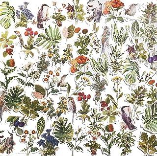 Doraking Plants DIY Decoration Stickers (Bird and Flower)