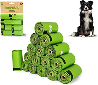 Dog Poop Bags Pet Dog Supplies 16 Rolls 240 Waste Dog Poop Bag for Doggie Cats Puppy Biodegradable Bag Extra Thick Large L...